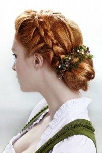 Frisur für die Braut