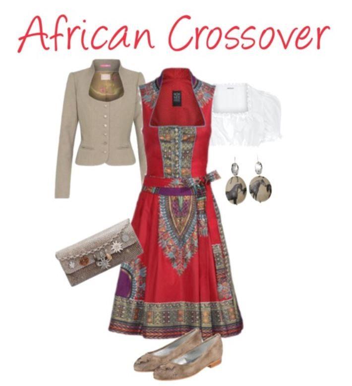 afrikanischer Dirndl-Style