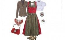 Cherry & Coffee Dirndl-Style