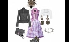 Elegant Rose Dirndl-Style