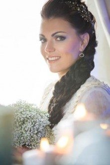 Winterhochzeit Braut Styling Tracht