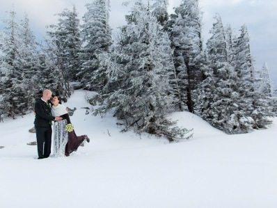 Berghochzeit im Schnee