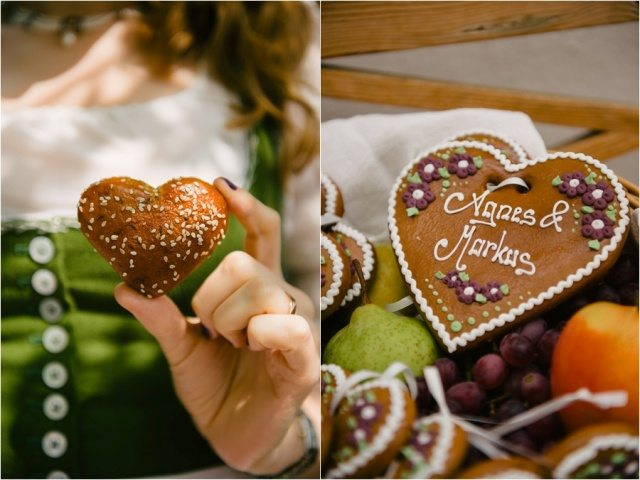 Lebkuchenherz und Brotherz Hochzeit