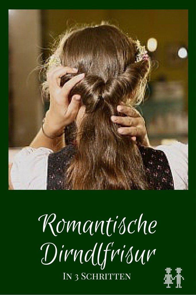 romantische Dirndlfrisur in 3 Schritten