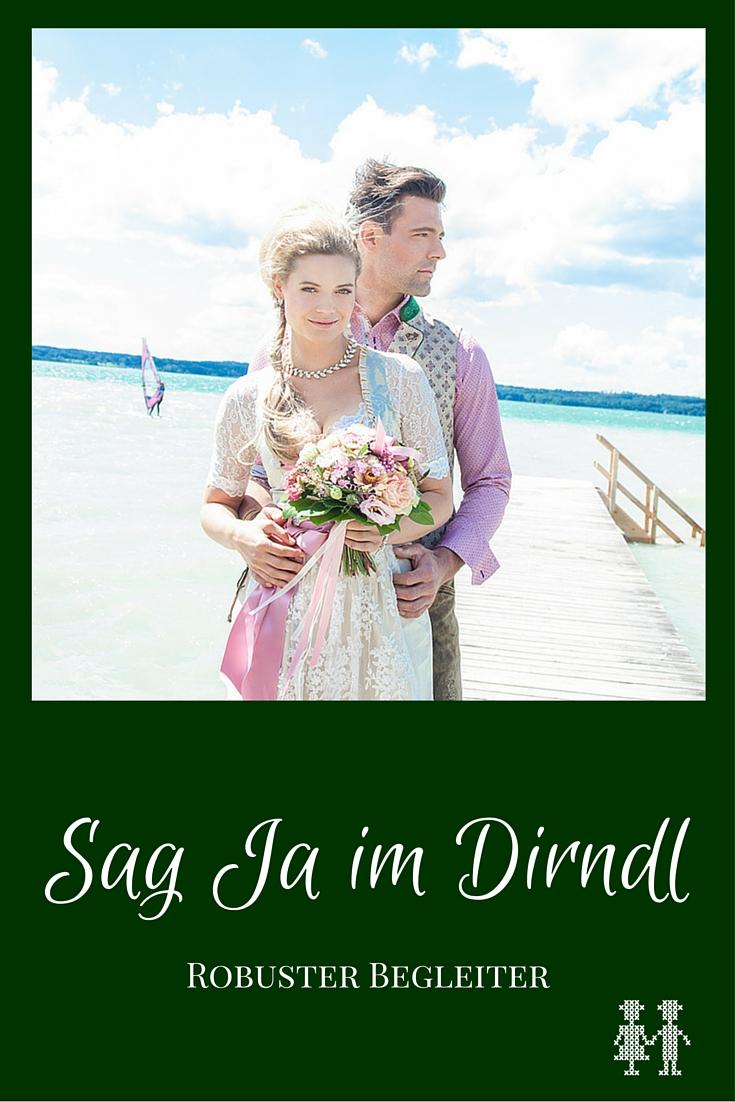 Bilder eines Styled Shootings im Brautdirndl am See
