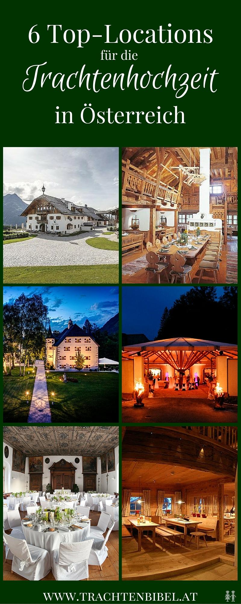 Hochzeitsplanerin Daniela Kainz verrät ihre 6 besten Orte für die Trachtenhochzeit in Österreich.