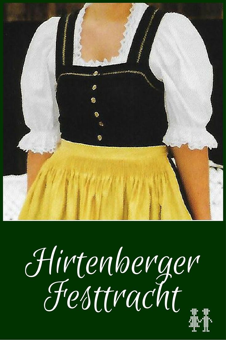 Die Hirtenberger Festtracht hat eine einfache Grundform und wird durch die verwendeten Stoffe und die besonders am Rücken reichliche Auszier durch Bogennähte festlich.