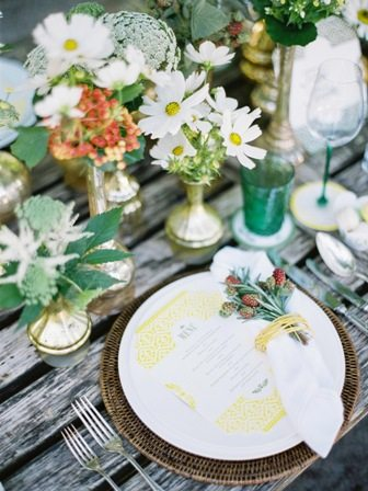 Leben Liebe eine Trachtenhochzeit Tischdekoration