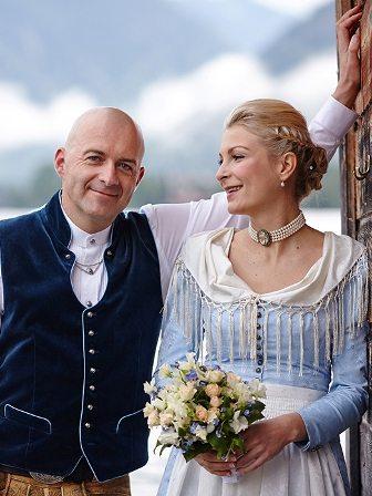 Trachtenhochzeit Tegernsee Brautpaar