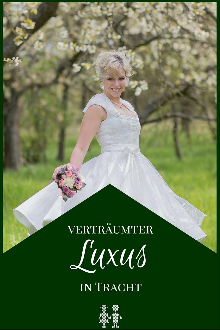 Traditionell mit einem Hauch von verträumtem Luxus - das ist das Styled Shooting rund um ein Brautdirndl von Tian van Tastique.