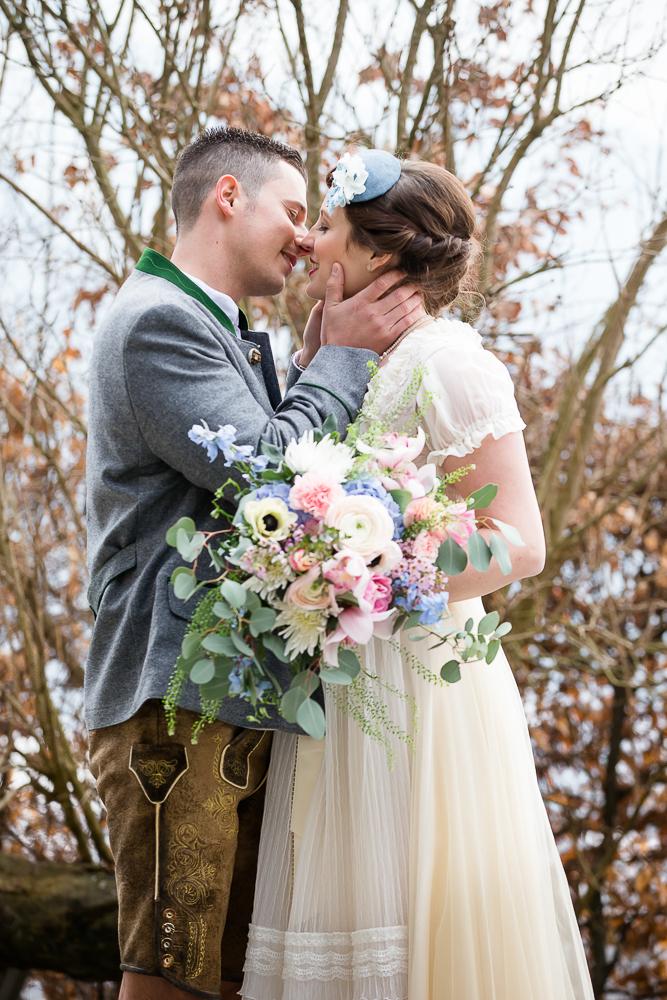 Boho auf Bayrisch Brautpaar