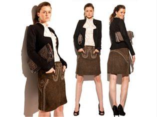 Trachtenamazonen Lederrock Couture Line (1)