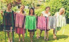 Die fünf Damen der Vergissmeinnicht vintage factory in Altaussee
