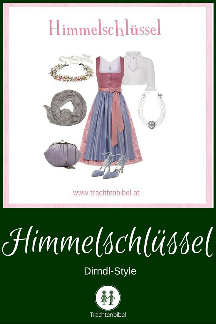 Himmelschlüssel Dirndl-Style zum Nachshoppen: Ein zeitlos-eleganter Look in Rosa und Hellblau.