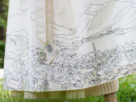 Schlierseer Brautdirndl Detail Schürze