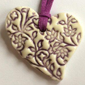 Ausseer Porzellan Anhänger Herz