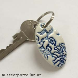 Ausseer Porzellan Schlüsselanhänger