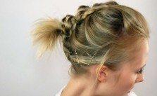 Dirndlfrisur zum Nachmachen für kinnlanges Haar