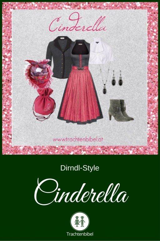Ein Styling in Anthrazit und Rosa für eine Cinderella!