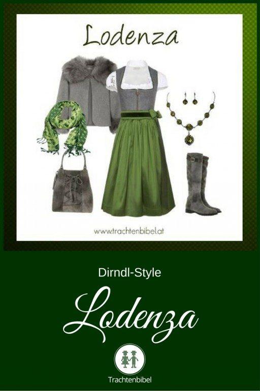 Ein traumhafter Look in Grau und Grün: Dirndl Style Lodenza zum Nachshoppen