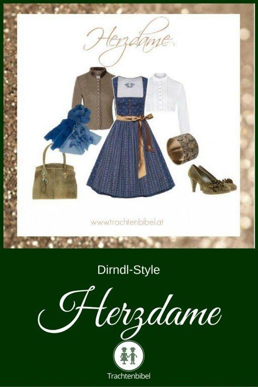 Ein toller Style in Blau und Bronze zum Nachshoppen für die Herzdame..