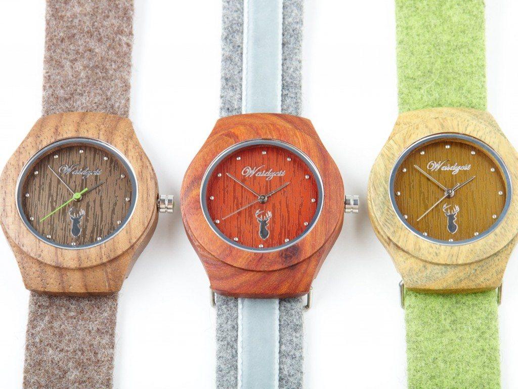 Waidzeit Uhren mit Lodenarmband