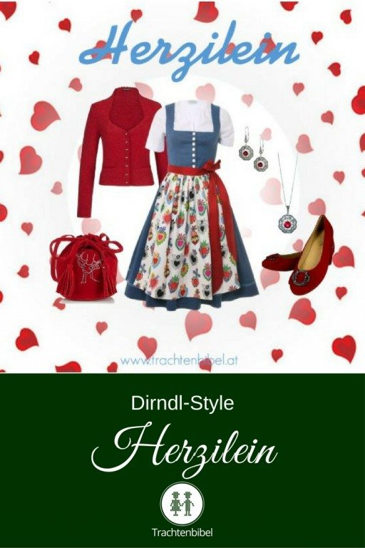 Dirndl-Outfit mit einem klassischen Leinen-Baumwoll-Dirndl und einer tollen Schürze mit Herzen