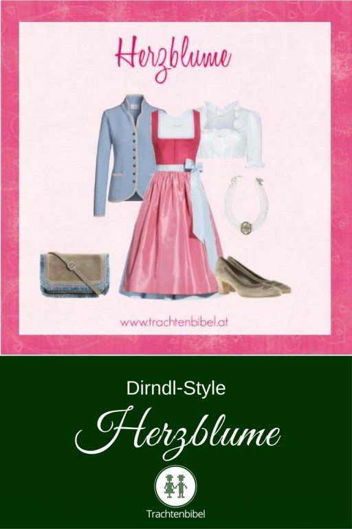 Ein Dirndl-Style in Rosa und Hellblau zum Verlieben. Frühlingsfrisch & zart.