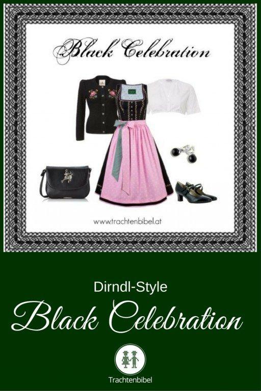 Ein tolles Outfit in Schwarz und Rosa ist der Dirndl-Style Black Celebration zum Nachshoppen. @trachtenbibel folgen und Trends entdecken!