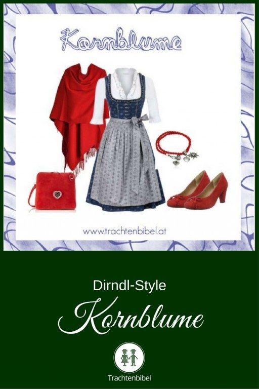 Ein Outfit in klassischen Dirndlfarben zum Nachshoppen