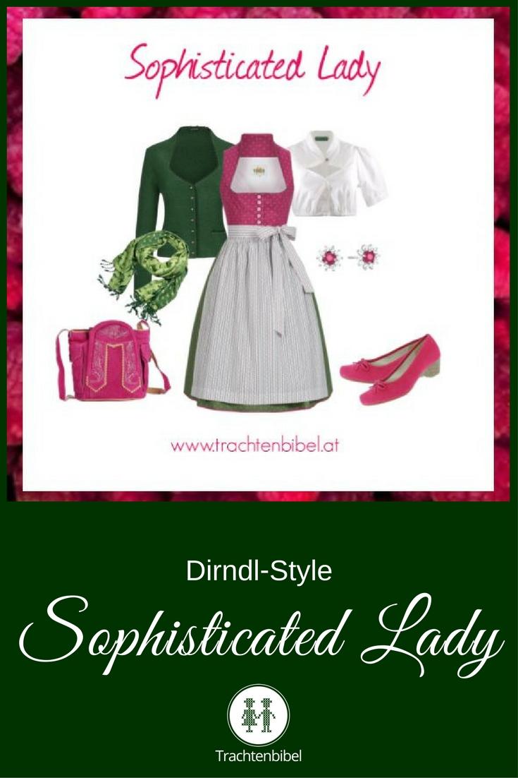 Sophisticated Lady Outfitzusammenstellung - Dirndl in Grün und Pink zum Nachshoppen