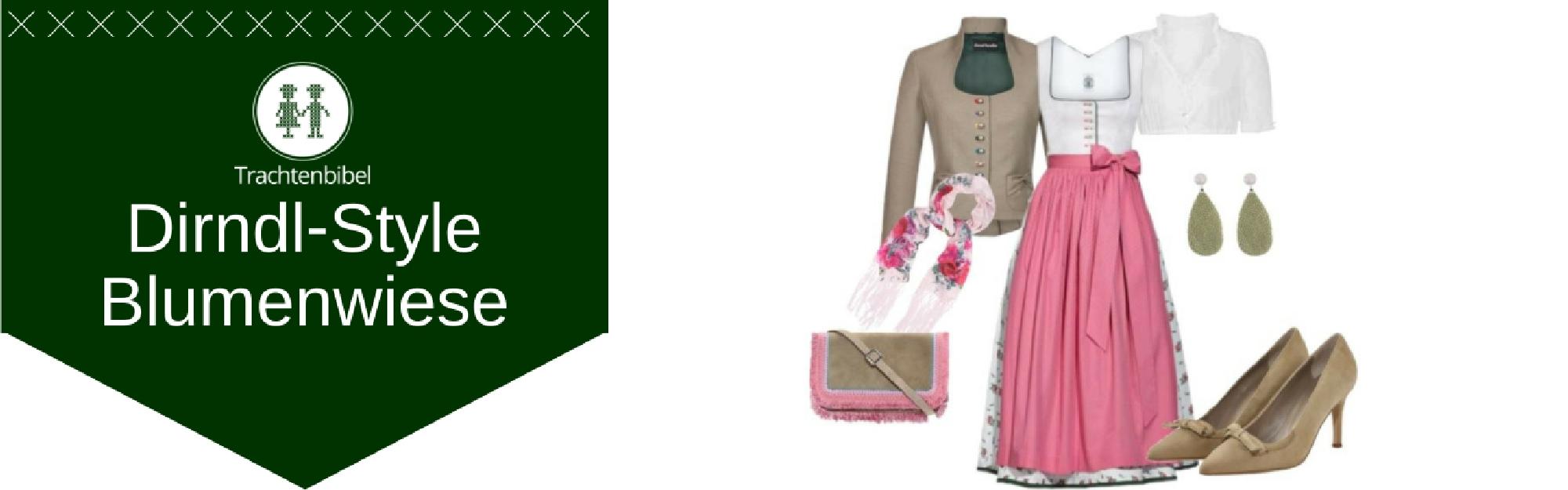 Blumenwiese Dirndl Outfit