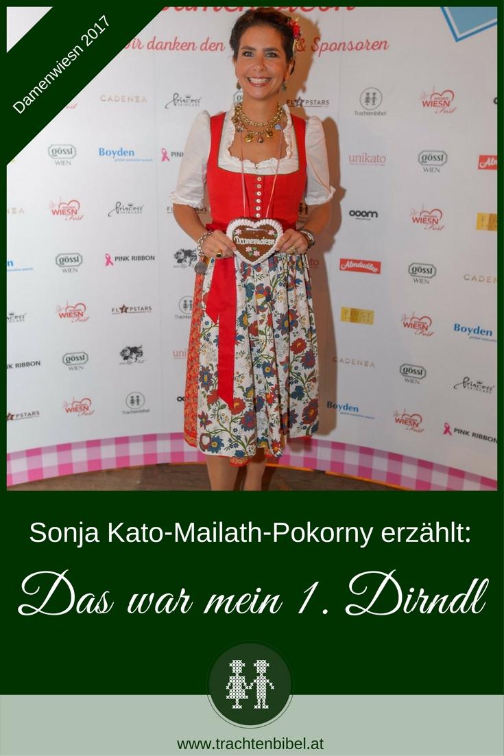 Sonja Kato-Mailath-Pokorny, die Organisatorin der Wiener Damenwiesn, verrät, was ihr erstes Dirndl war!
