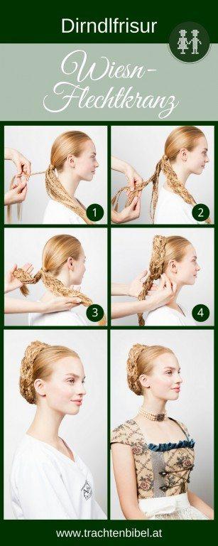 Eine trendige Dirndlfrisur - der Wiesn-Flechtkranz. Mit dieser einfachen Schritt für Schritt-Anleitung schaffen auch Sie diese tolle Frisur zum Dirndl.