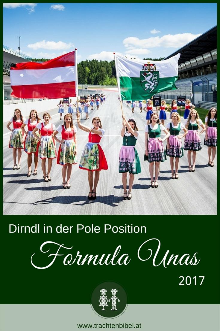 Die Formula Unas 2017 tragen zum Grand Prix von Österreich Dirndln und tragen damit die Tradition der Steiermark in die Welt hinaus.