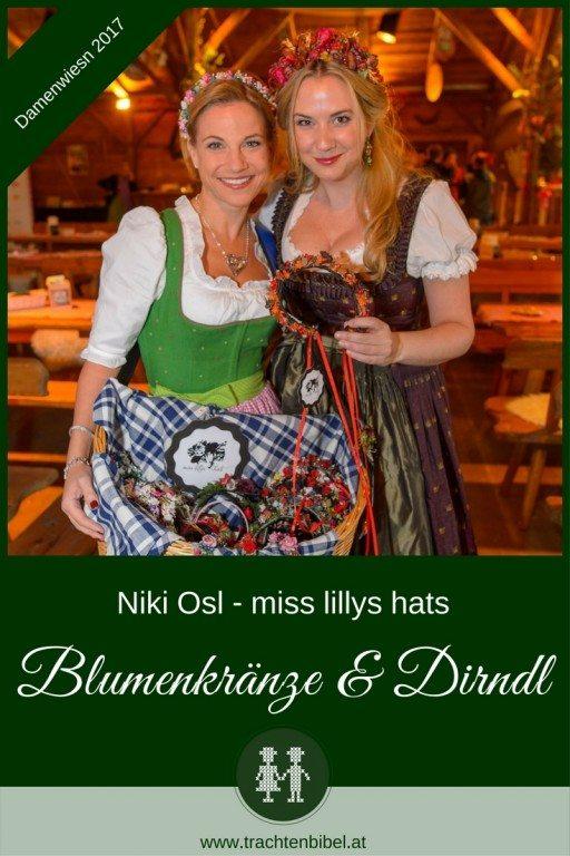 Niki Osl designed wunderschöne Blumenkränze, die perfekt zum Dirndl passen. Ein Haarschmuck, der jedes Outfit vollendet.