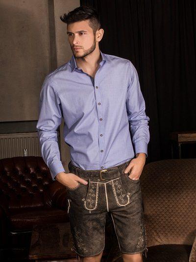 Gweih Und Silk Herrenhemd Lederhose