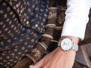 Makelos Uhr Silber Herren Filzband