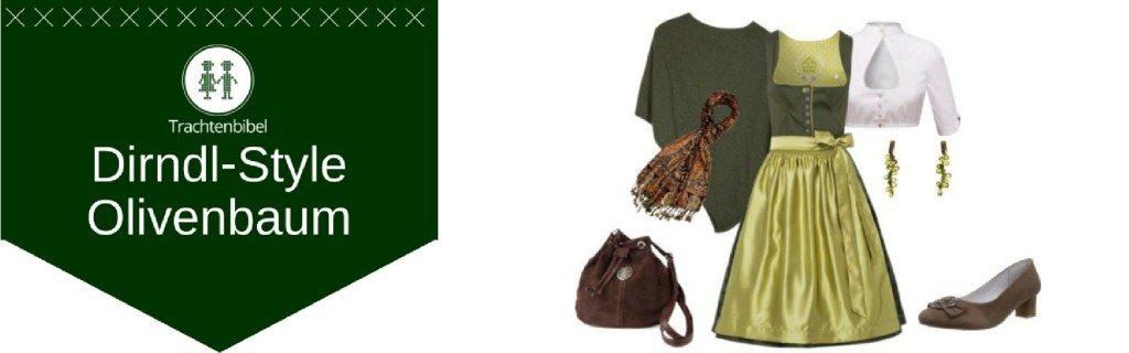 Olivenbaum Dirndl Outfit