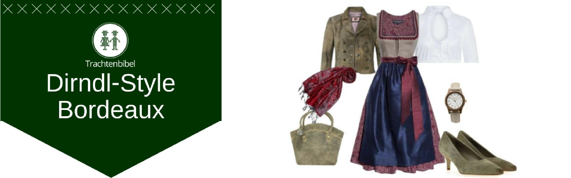 Bordeaux Dirndl Outfit