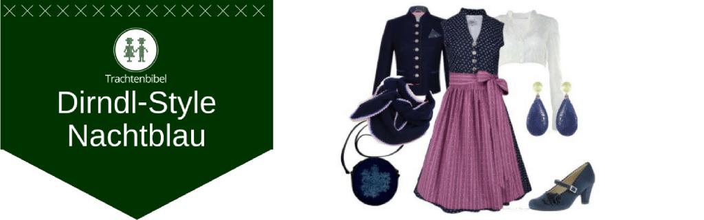 Nachtblau Dirndl Outfit