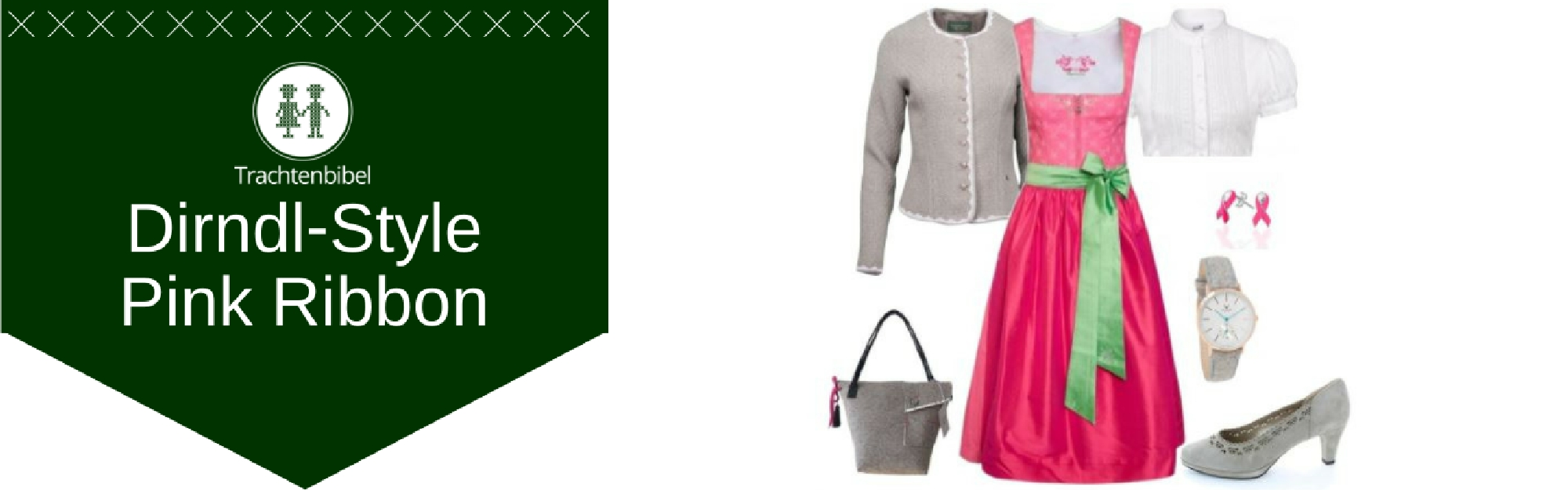 Pink Ribbon Dirndl Outfit