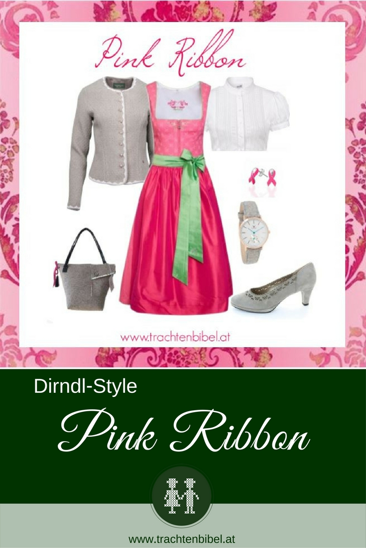 Ein Styling zum offiziellen Wiener Wiesn Dirndl 2017. Bei jedem Verkauf geht eine Spende an die Pink Ribbon Aktion.