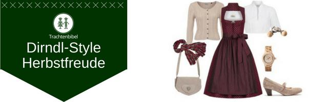 Herbstfreude Dirndl Outfit