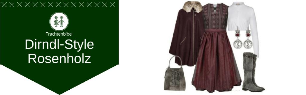 Rosenholz Dirndl Outfit