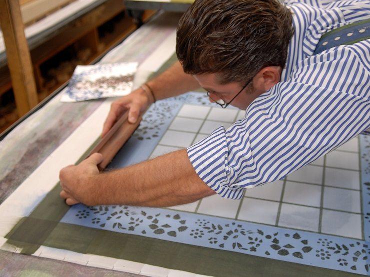 Textildruck Handdruck Sekyra
