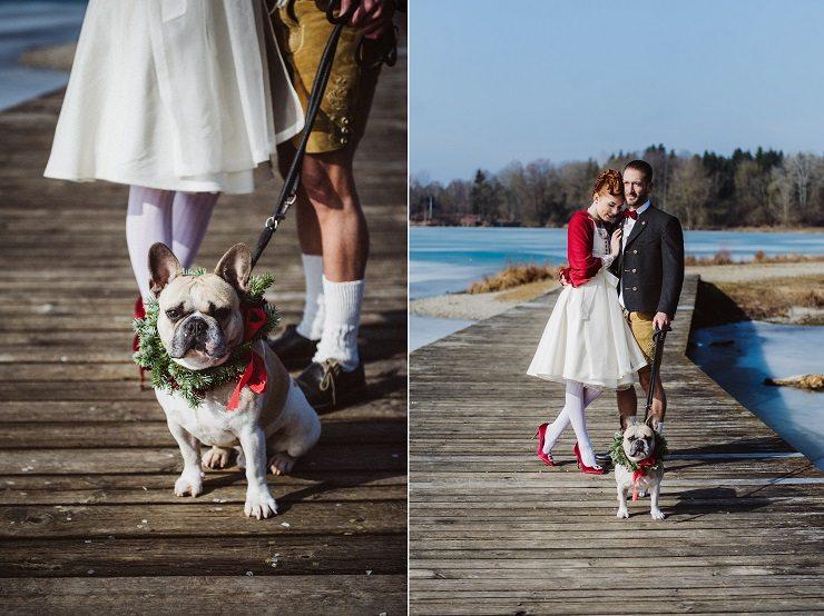 Trachtenhochzeit Im Winter Ringträger Braut Bräutigam