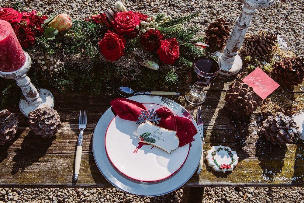 Trachtenhochzeit Im Winter Tischdeko