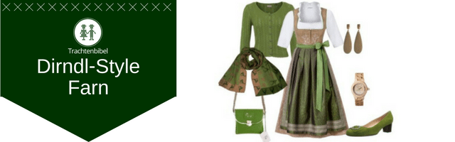 Farn Dirndl Outfit