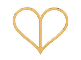 Donani Dirndlspangerl Herz vergoldet
